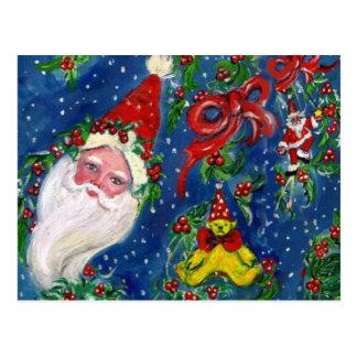 CHRISTMAS NIGHT / SANTA CLAUS POSTCARD