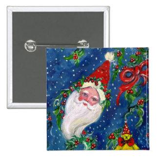 CHRISTMAS NIGHT / SANTA PINBACK BUTTON