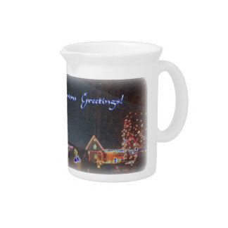 Christmas Night Scenery Pitcher