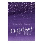 Christmas night sky stars party invitation purple