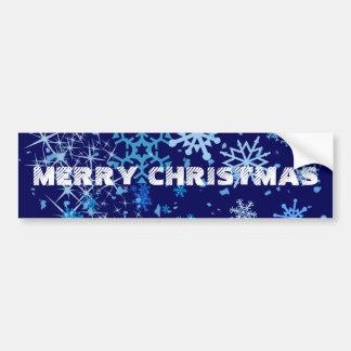 Christmas Night Snowfall Bumper Sticker