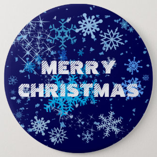 Christmas Night Snowfall Pinback Button