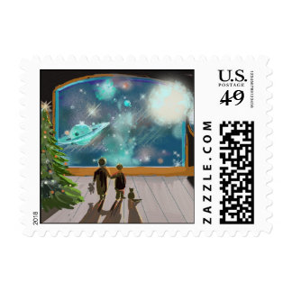 Christmas Night Stamp