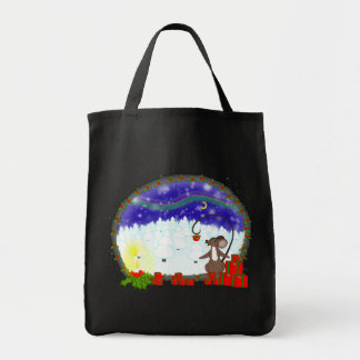 Christmas night tote bag