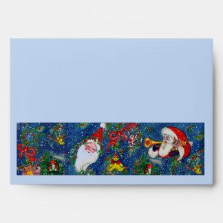 CHRISTMAS NIGHT white blue red Envelopes