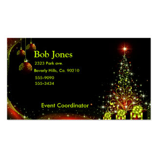 Christmas Night Wonderland Green Set Double-Sided Standard Business Cards (Pack Of 100)