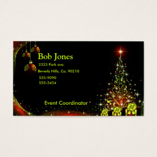 Christmas Night Wonderland Green Set Business Card