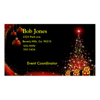 Christmas Night Wonderland Red Set Double-Sided Standard Business Cards (Pack Of 100)