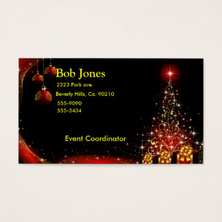 Christmas Night Wonderland Red Set Business Card