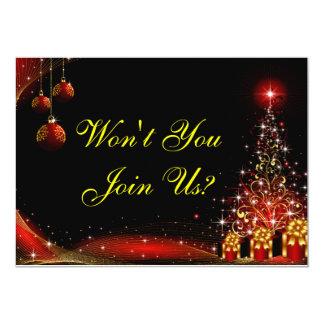 Christmas Night Wonderland Red Set Card