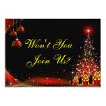 Christmas Night Wonderland Red Set Custom Invites