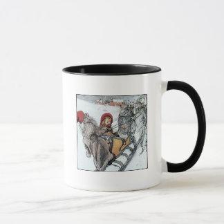 Christmas Nisse and Kersti on Sleigh Ride Mug