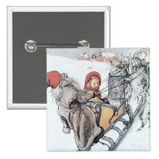 Christmas Nisse and Kirsti Pinback Buttons