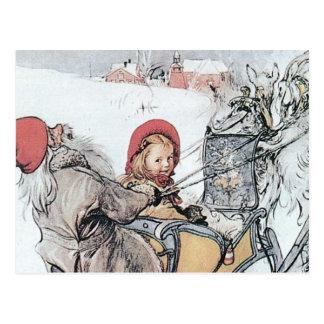 Christmas Nisse and Kirsti Postcard