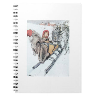 Christmas Nisse and Kirsti Spiral Notebook