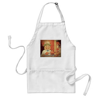 Christmas Nisse and Lucia Day Karin Adult Apron
