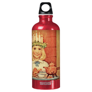 Christmas Nisse and Lucia Day Karin Aluminum Water Bottle