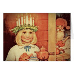Christmas Nisse and Lucia Day Karin Greeting Card