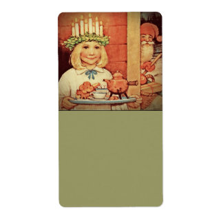 Christmas Nisse and Lucia Day Karin Shipping Labels