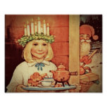 Christmas Nisse and Lucia Day Karin Poster