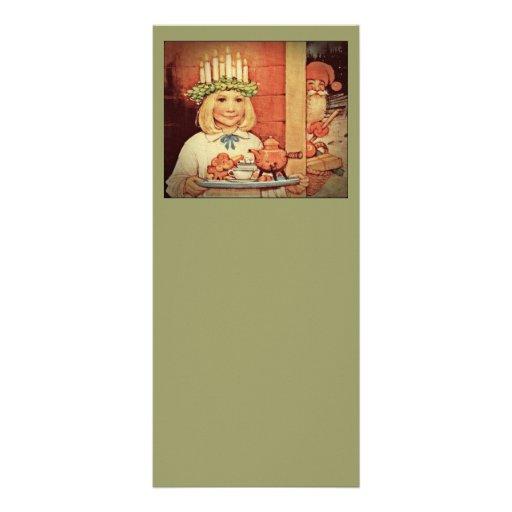 Christmas Nisse and Lucia Day Karin Custom Rack Card