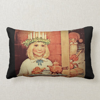 Christmas Nisse and Lucia Day Karin Throw Pillow