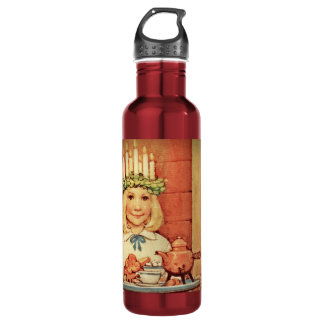 Christmas Nisse and Lucia Day Karin Water Bottle