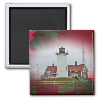 Christmas Nobska Point Lighthouse Magnet