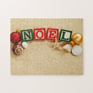 Christmas Noel at the Beach Jigsaw Puzzle