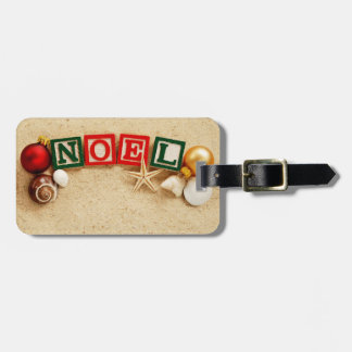 Christmas Noel at the Beach Tag For Luggage