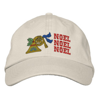Christmas Noel Horn Hat Embroidered Hats