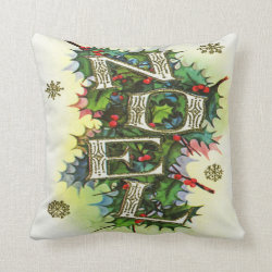 Christmas Noel Throw Pillow