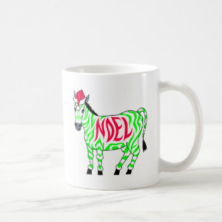 Christmas Noel Zebra Coffee Mug