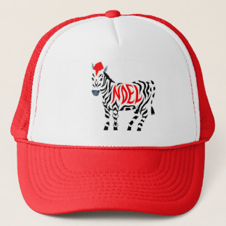 Christmas Noel Zebra Trucker Hat