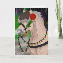 Christmas Norwegian Fjord Horse Holiday Card