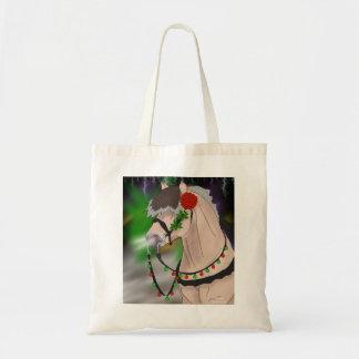 Christmas Norwegian Fjord Horse Tote Bag