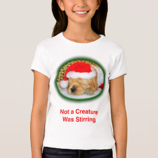 """Christmas, """"Not a Creature Was Stirring"""" Girls Top"""