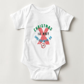christmas not spelled x.ai baby bodysuit