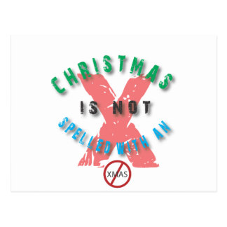 christmas not spelled x.ai postcard