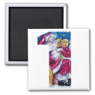 CHRISTMAS NUMBER 1 / INSPIRED SANTA 2 INCH SQUARE MAGNET
