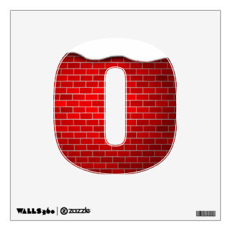 Christmas Numbers Numerical - Red Brick with Snow Wall Skins