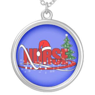 CHRISTMAS NURSE NECKLACE - SANTA'S HAT
