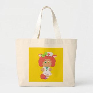Christmas Nurse Neko - Yellow Jumbo Tote Bag
