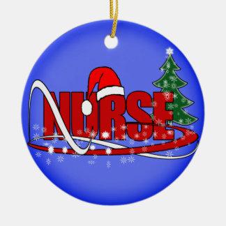 CHRISTMAS NURSE ORNAMENT