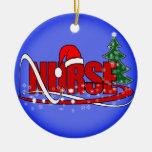 CHRISTMAS NURSE ORNAMENT (ONE SIDE)