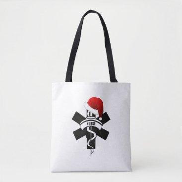 Beach Themed Christmas Nurses Holidays Tote Bag