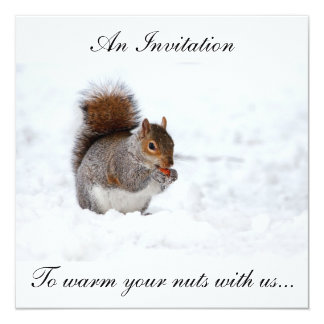 Christmas nut warmer inviation card