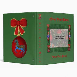 Christmas Nutcracker Holiday Custom Binder