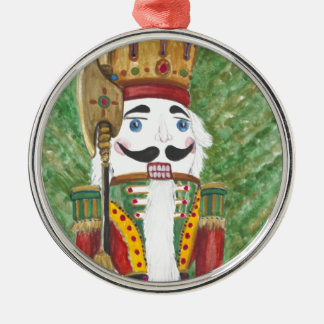 Christmas Nutcracker Metal Ornament