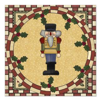 """Christmas Nutcracker Party Invitation 5.25"""" Square Invitation Card"""